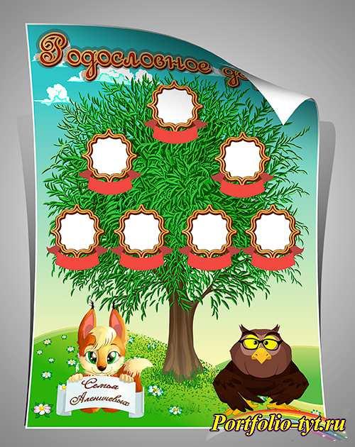 Шаблон генеалогическое древо для детского сада