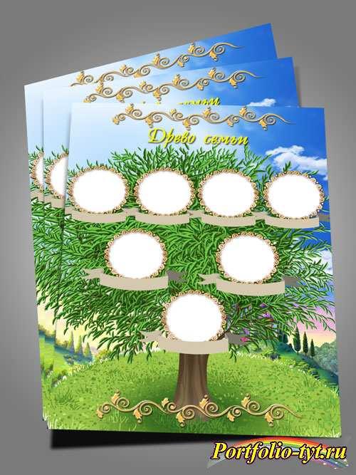 Шаблон родословного дерева - Древо семьи